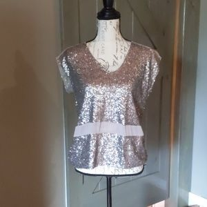 Chelsea and Violet sequin blouse